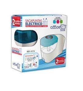 SACAPUNTAS ELECTRICO OFFICE BOX  A PILAS X-CHARGER