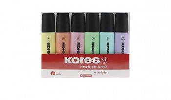 MARCADORES PASTEL KORES MPA1 PACK 6
