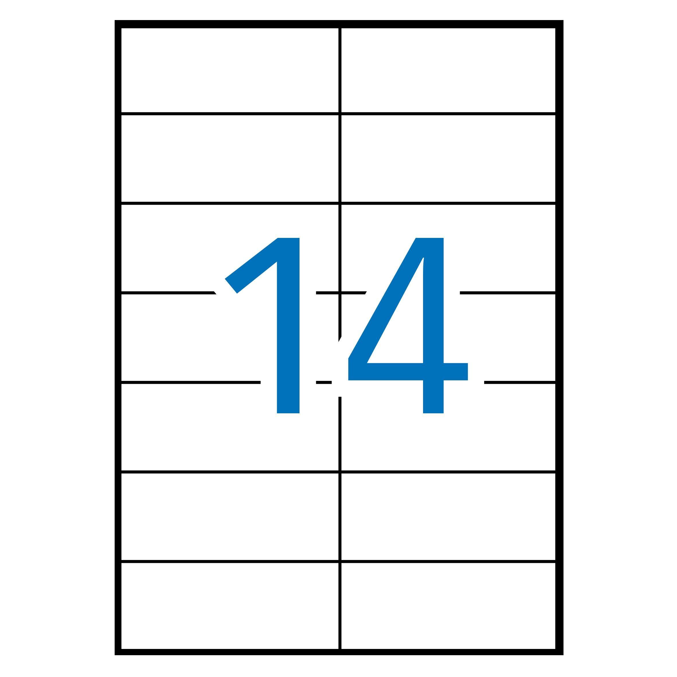 (52) ETIQUETAS INKJET LASER Y COPY 105X42,4