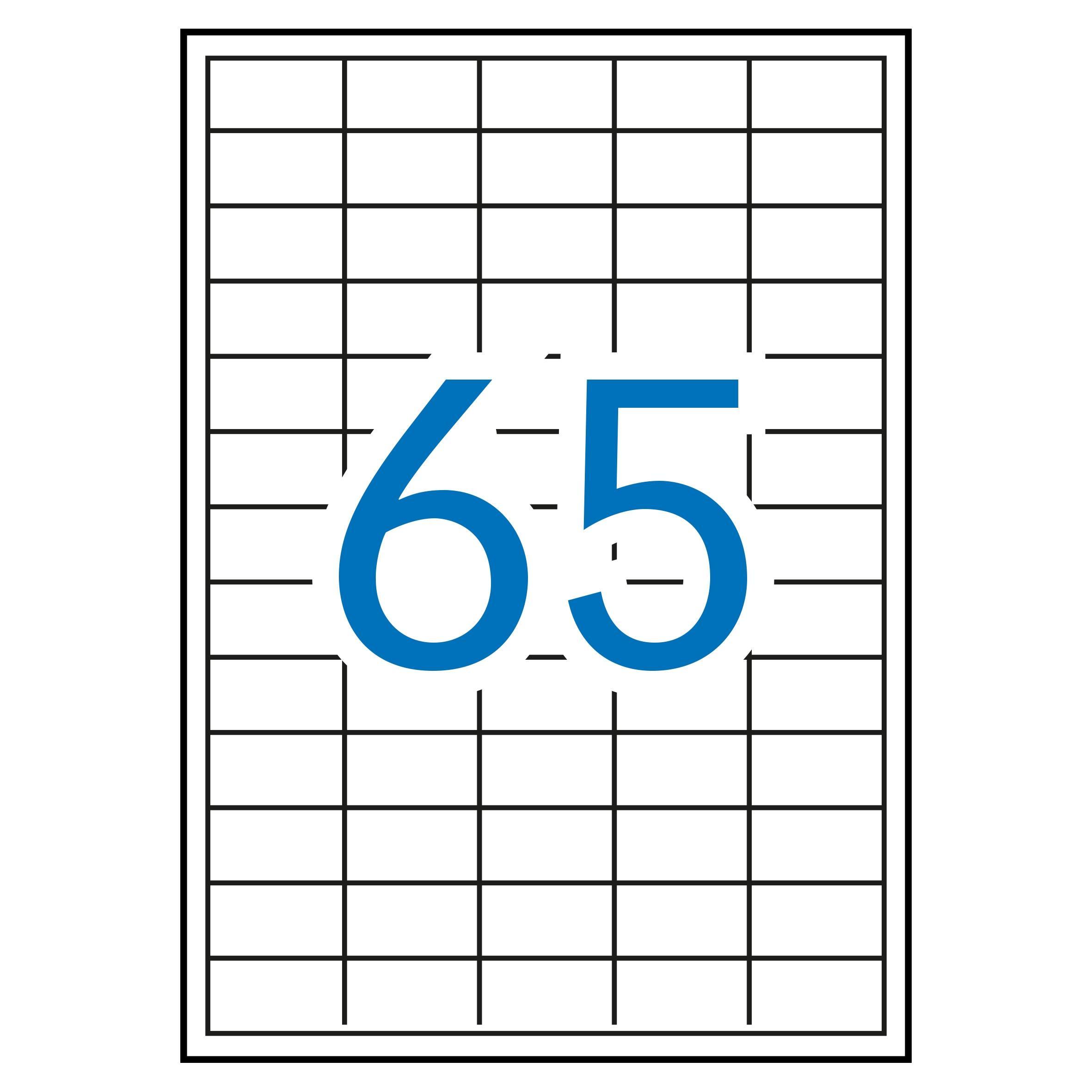 (52T) ETIQUETAS INKJET LASER Y COPY 38X21,2