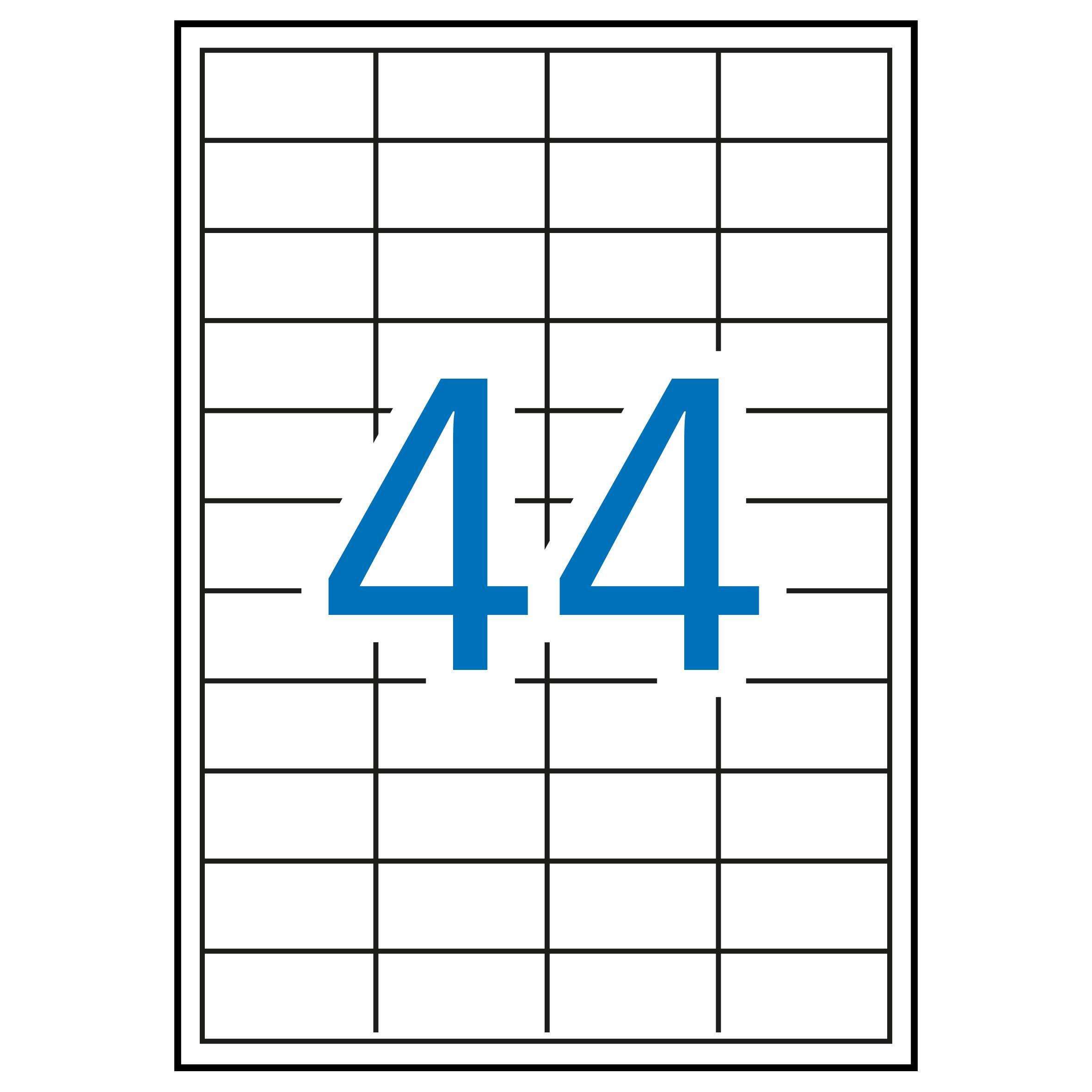 (52T) ETIQUETAS INKJET LASER Y COPY 48,5X25,4