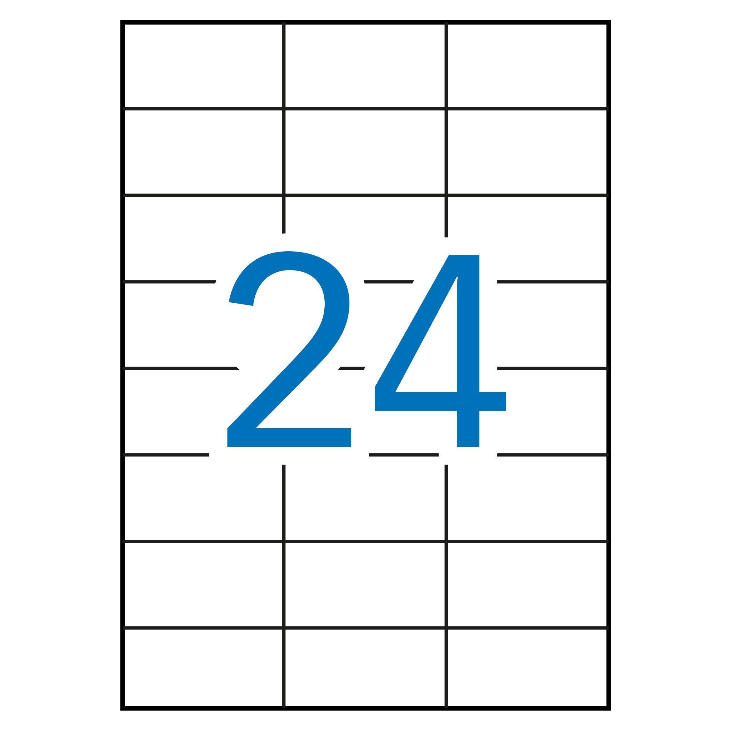 (52) ETIQUETAS INKJET LASER Y COPY 70X37