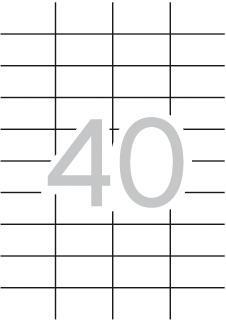APLI ETIQUETAS 52,5X29,7 100 HOJAS