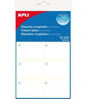 APLI BLISTER ETIQUETAS CONGELADOR 34X53 MM 10H