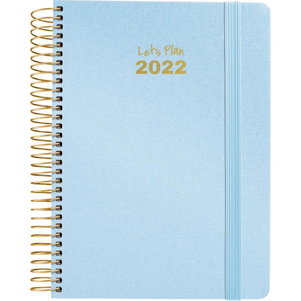 (22A) AGENDA ANUAL D/P 2022 GRAFOPLAS 15X21, SERIE METALIC (AZUL)