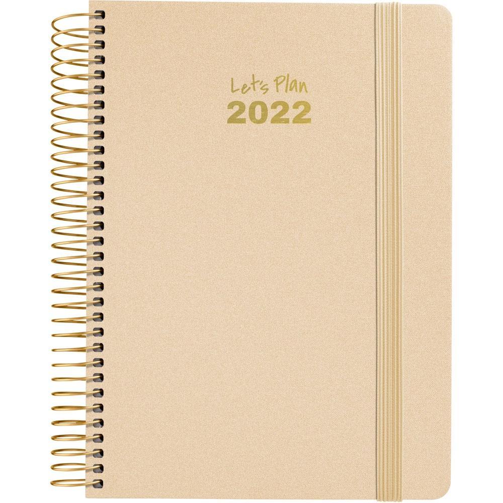 (22A) AGENDA ANUAL D/P 2022 GRAFOPLAS 15X21, SERIE METALIC (ORO)