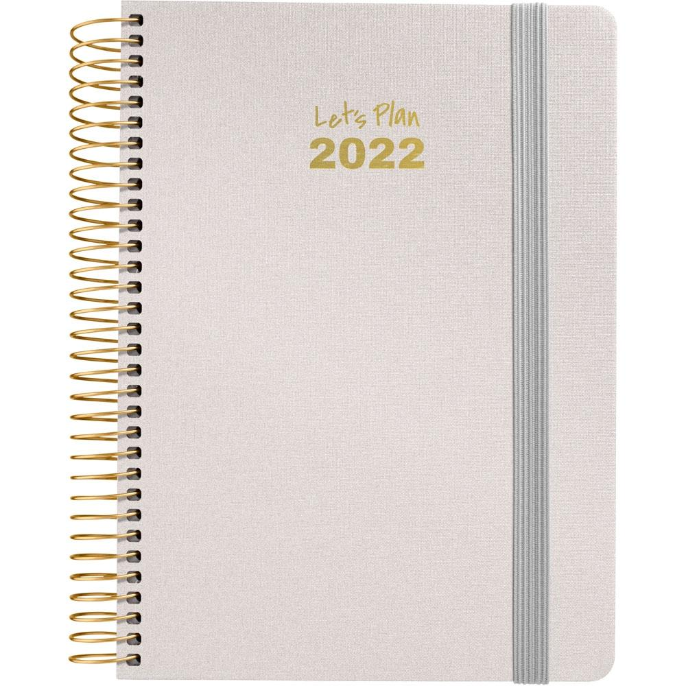 (22A) AGENDA ANUAL D/P 2022 GRAFOPLAS 15X21, SERIE METALIC (PLATA)