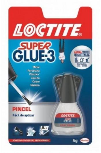 LOCTITE SUPER GLUE-3 CON PINCEL 5 GRAMOS
