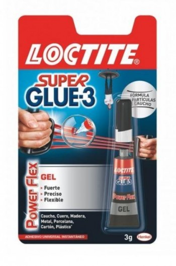 LOCTITE SUPER GLUE-3 POWER FLEX 3 GRAMOS