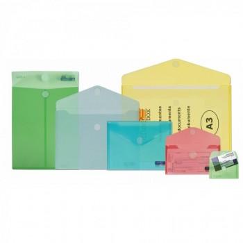 BOLSA CIERRE DE VELCRO OFFICE BOX A4+ 240X335 MM