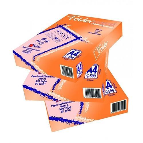 Papel A4 Folder 80 gramos 500 hojas