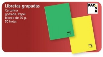 LIBRETA PACSA GRAPADAS 50 HOJAS
