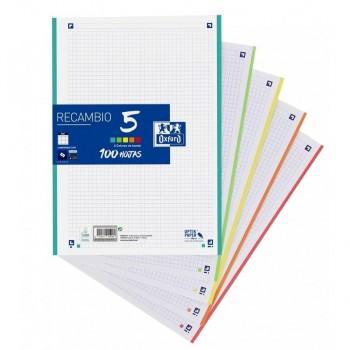 RECAMBIO OXFORD CLASSIC 5 o 10 COLORES A4