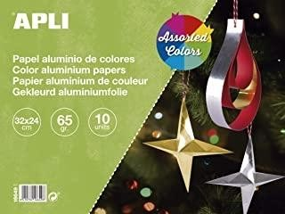 BLOC MANUALIDADES PAPEL ALUMINIO COLORES A4 10 HOJAS