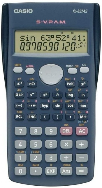 CALCULADORA CASIO FX-82MS DOBLE PANTALLA