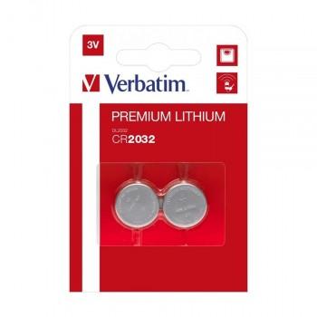 PILAS VERBATIM PLANAS LITIO CR2032 (PACK 4 UDS)