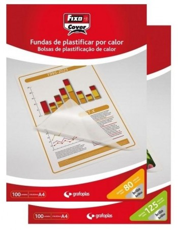 FUNDAS DE PLASTIFICAR FIXO 100 UNIDADES