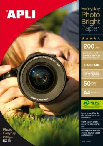 PAPEL EVERY PHOTO 200GRAMOS BRIGHT 50 HOJAS