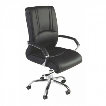 SILLON DIRECCION SIMILPIEL BASCULANTE BASE CROMADA