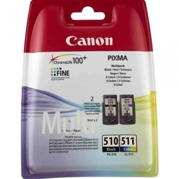 CANON CARTUCHO INY TINTA NEGRO/COLOR PG-510/CL-511 *PACK 2*