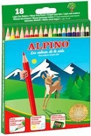 LAPICES ALPINO CAJA DE 18 UNIDADES