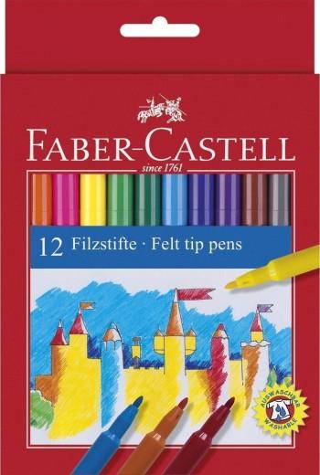 ROTULADOR PUNTA DE FIBRA FABER-CASTELL ESTUCHE 12