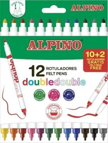 ESTUCHE 10 +2 ROTULADORES DOBLE PUNTA ALPINO