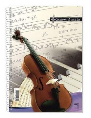 BLOCK MUSICA Fº 16 PENTAGRAMAS