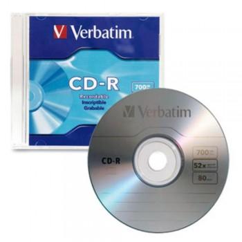 CD-R VERBATIM 52X 700 MB SLIM UNIDADES SUELTAS