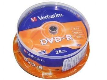 DVD-R VERBATIM 16X 4,7GB SPINDLE 25