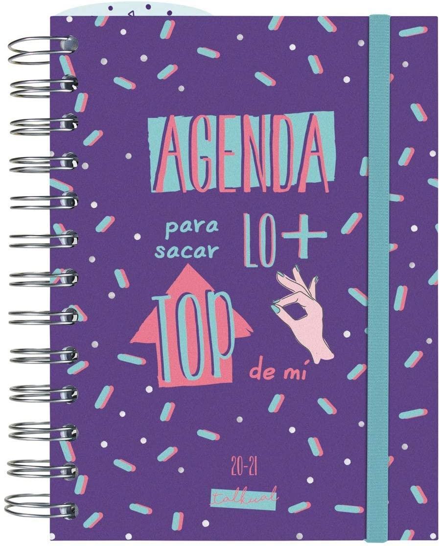 AGENDA ESCOLAR 20-21 120X168 DP ESPIRAL TOP MORADO TALKUAL FINOCAM