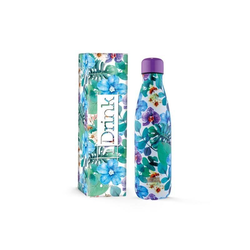 color Azul I-Drink 3 cm, acero inoxidable Tap/ón para botella IDRINK 350//500 ml