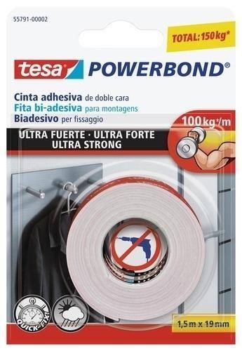 CINTA ADHESIVA DOBLE CARA TESA POWERBOND ROLLO 1,5X19