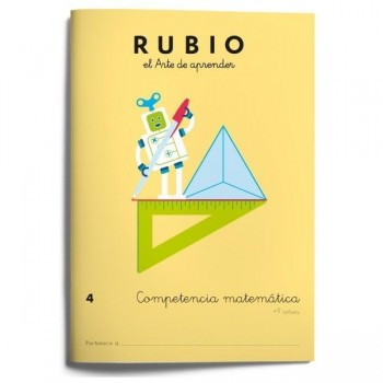 CUADERNO RUBIO COMPETENCIA MATEMÁTICA 4 (+9 AÑOS)