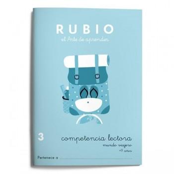 CUADERNO RUBIO COMPETENCIA LECTORA 3 - MUNDO VIAJERO