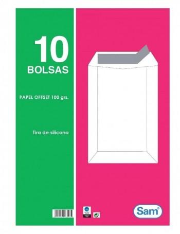 PAQUETE 10 BOLSAS BLANCAS CIERRE DE SILICONA 100 GRAMOS