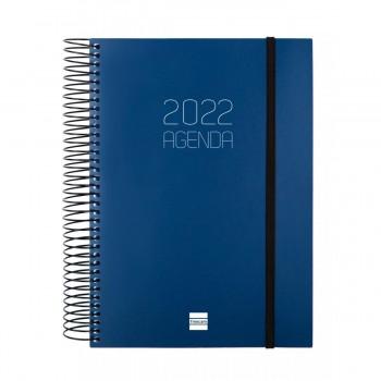 AGENDA ANUAL 2022 FINOCAM OPAQUE 155X212 1D/P AZUL