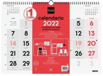 CALENDARIO PARED NUMEROS GRANDES 2022 FINOCAM