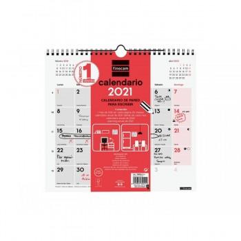 CALENDARIO PARED PARA ESCRIBIR 2021 FINOCAM 265X245