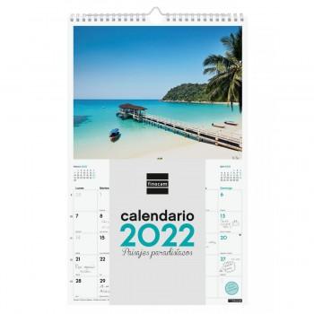 CALENDARIO DE PARED 2022 FINOCAM 25X40 PPARADIS