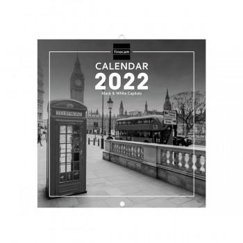 CALENDARIO DE PARED 2022 FINOCAM B&W CAPITINTL