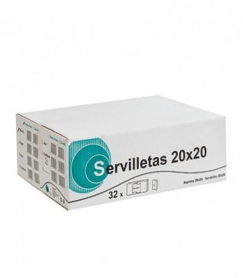 SERVILLETAS 2 CAPAS 20X20 - 100 UNIDADES HYGILANDER