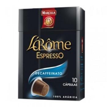 LAROME CAJA 10 CAPSULAS DE CAFE ESPRESSO DESCAFEINADO