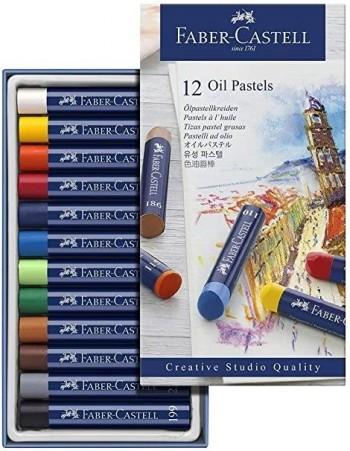 ESTUCHE 12 PINTURAS PASTEL AL OLEO CREATIVE STUDIO FABER CASTELL