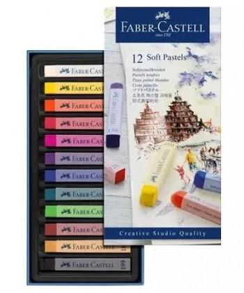 ESTUCHE 12 PINTURAS PASTEL BLANDA CREATIVE STUDIO FABER CASTELL