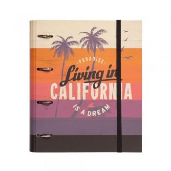 CARPETA 4 ANILLAS TROQUELADA CALIFORNIA