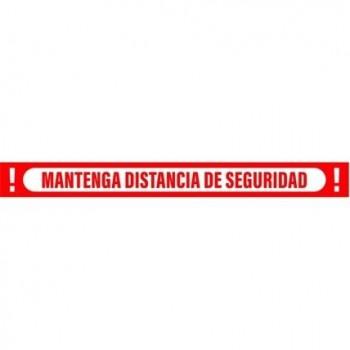 SEÑAL 100X10 CINTA MANTEN DISTANCIA DE SEGURIDAD ROJO