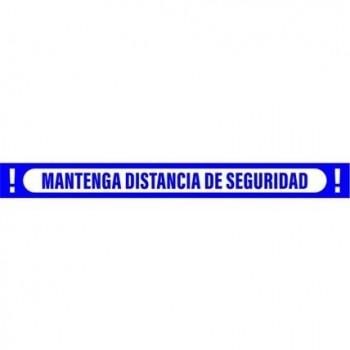SEÑAL 100X10 CINTA MANTEN DISTANCIA DE SEGURIDAD AZUL