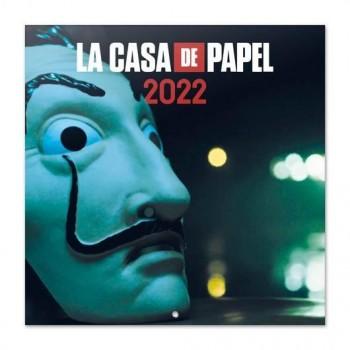 CALENDARIO DE PARED 2022 ERIK 30X30 LA CASA DE PAPEL
