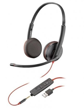 AURICULAR POLY BLACKWIRE C3225 USB A